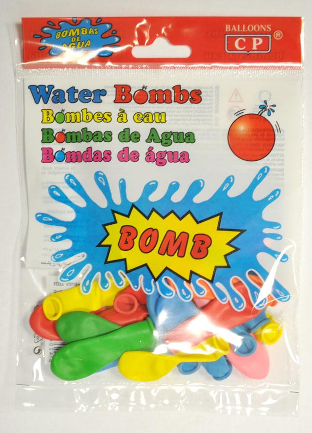 Bolsa 20 globos de agua colores surtidos  ref. 10064