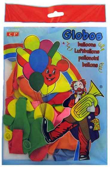 Bolsa 100 globos surtidos  ref. 10114