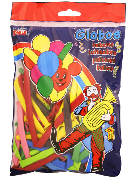 Pack of 50 model assorted colours balloons ref. 10189