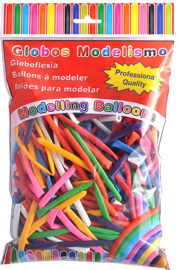 Pack of 100 model assorted colours balloons ref. 10306