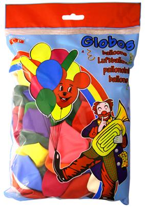 Bolsa 100 globos surtidos  ref. 10310