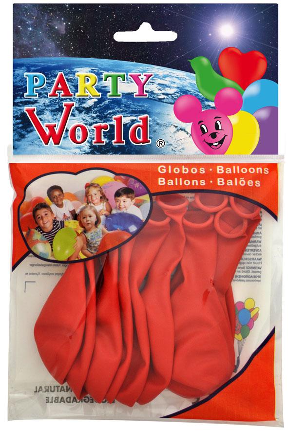 Bolsa 10 globos rojos ref. 11205