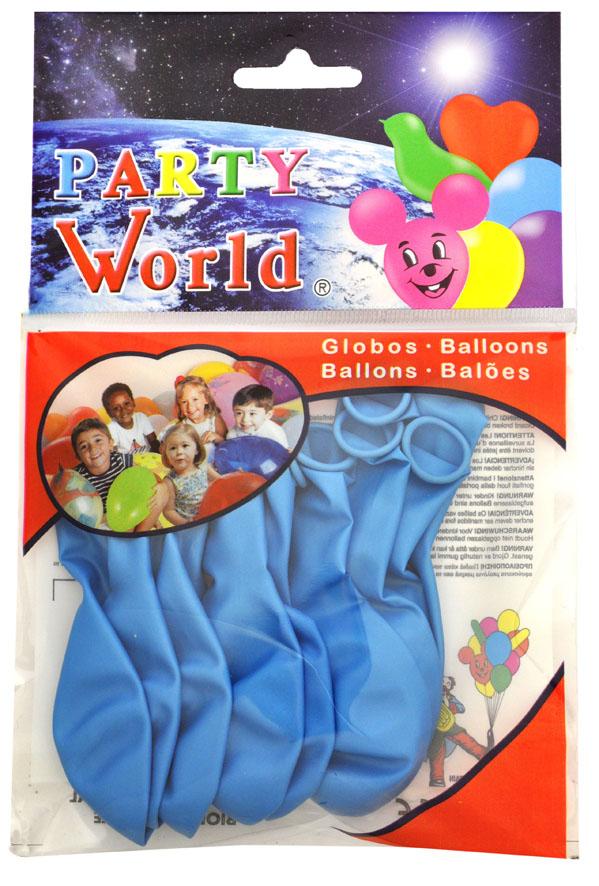 Bolsa 10 globos azul suave perlado ref. 11261