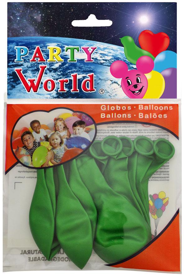 Bolsa 10 Globos metalizados verde ref. 11262