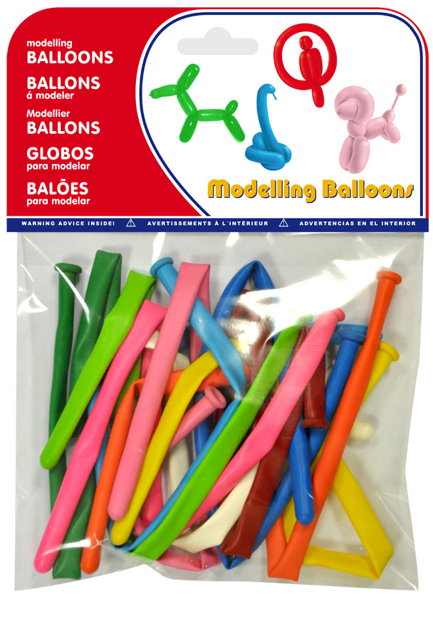 Bolsa 10 globos de modelar colores surtidos  ref. 20142