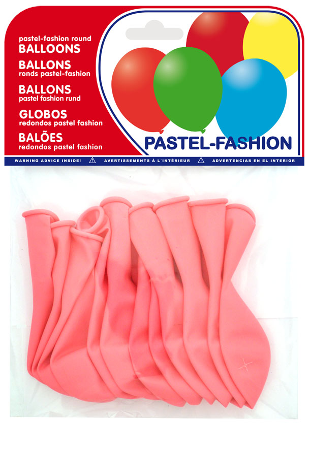 Pack of 12 pink balloons ref. 20404