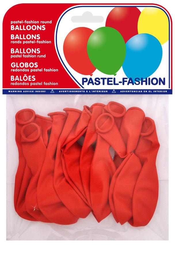 Bolsa 12 globos rojo ref. 20405