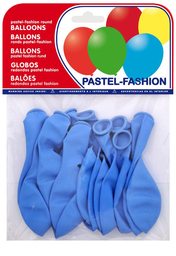 Bolsa 12 globos azul celeste ref. 20409