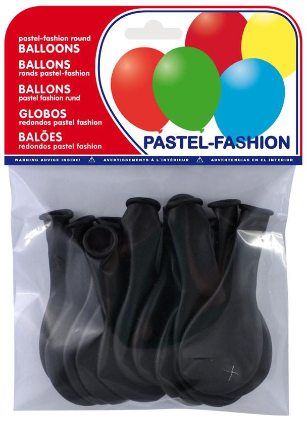 Bolsa 12 globos negros ref. 20411