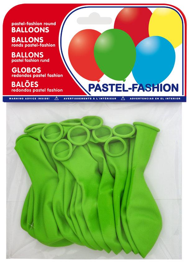 Bolsa 12 globos verde pistacho  ref. 20414