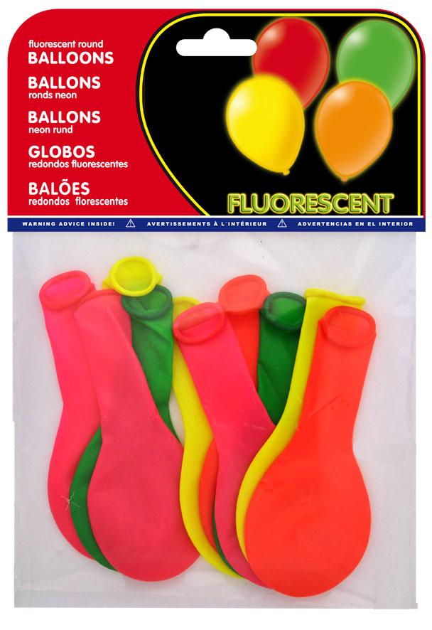 Bolsa 10 globos fluorescentes surtidos ref. 20450