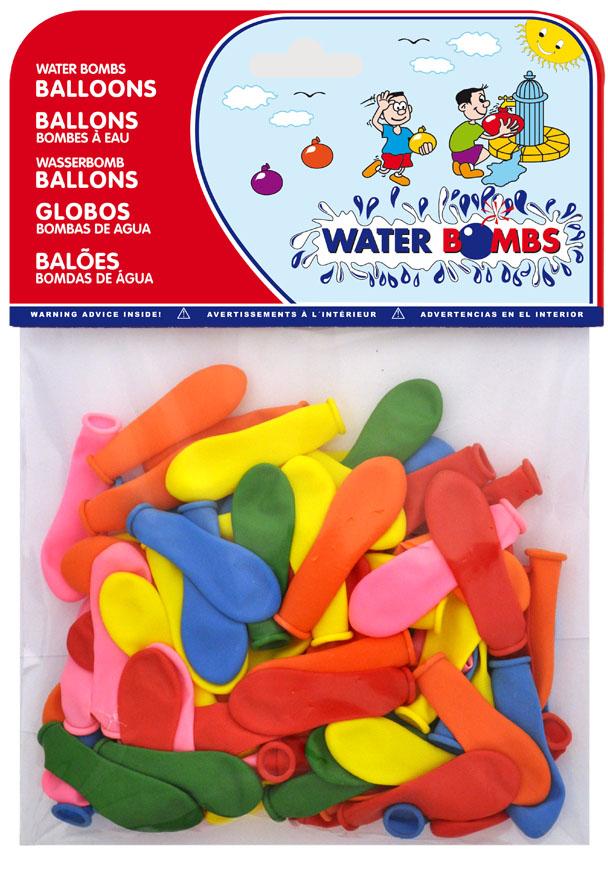 Bolsa 100 globos de agua colores surtidos ref. 20455