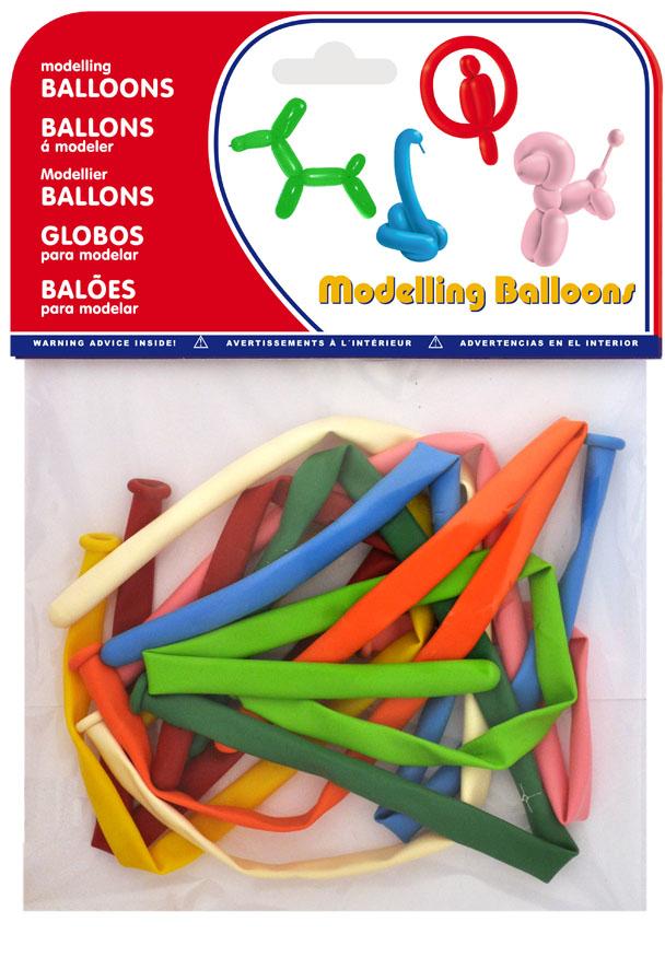 Bolsa 10 globos de modelar colores surtidos  ref. 20457