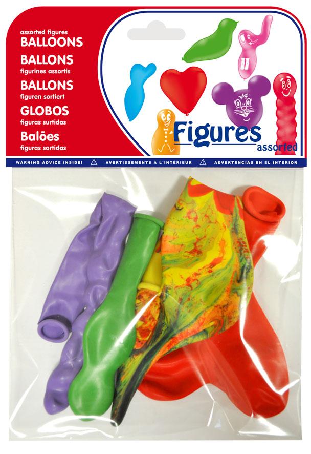 Bolsa 4 globos figuras surtidas  ref. 20460