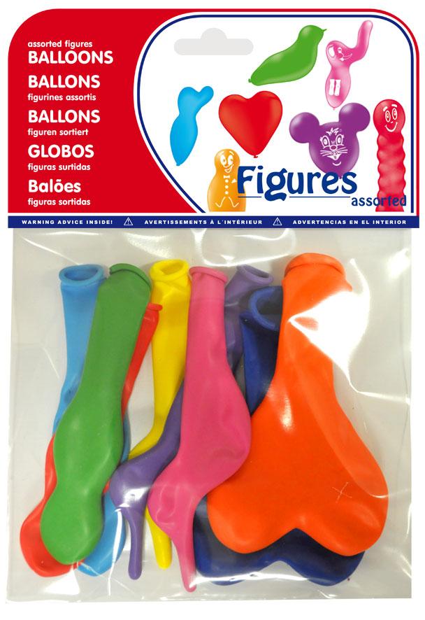 Bolsa 8 figuras con globos surtidos ref. 20462