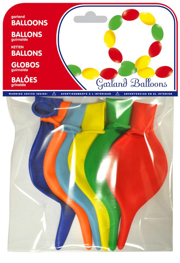Bolsa 6 globos guirnalda surtido ref. 20463