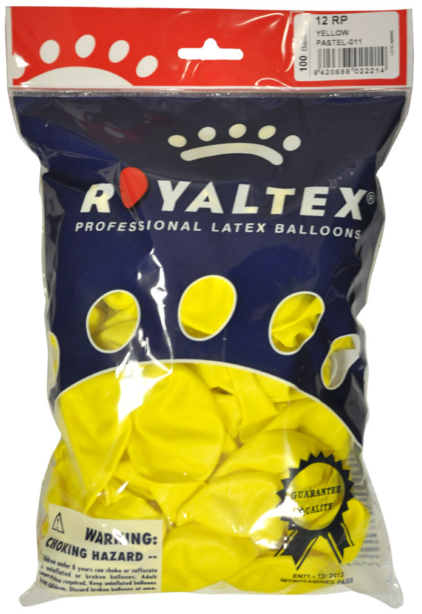 Pack of 100 yellow balloons ref. 40312