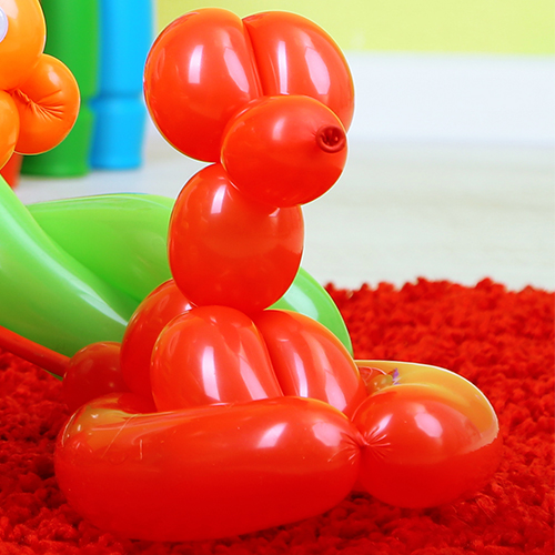 Balloons twisted into figures: balloon modelling